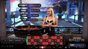 Live Roulette Game at Age of the Gods