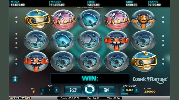 Cosmic Fortune Bet At Home Slot