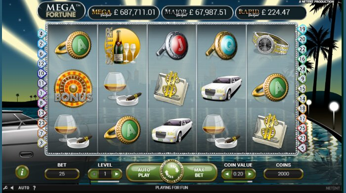 Mega Fortune Bet At Home Slot
