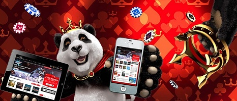 Deposit your money on Royal Panda mobile app