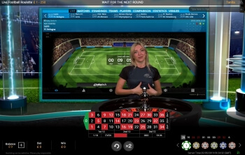 Live Football Roulette Game