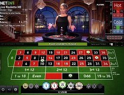 Live Roulette Game at NetEnd